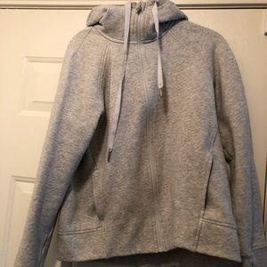 Lululemon zip up gray fleece hoodie size 8